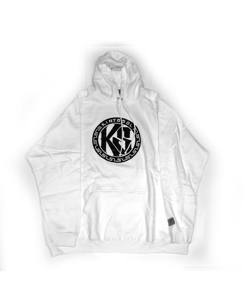 KS Round Logo Hoodie White
