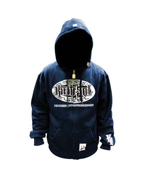 Straight Logo Zipper Hoodie #2