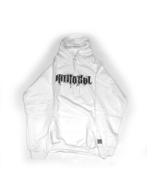 Straight logo Hoodie White