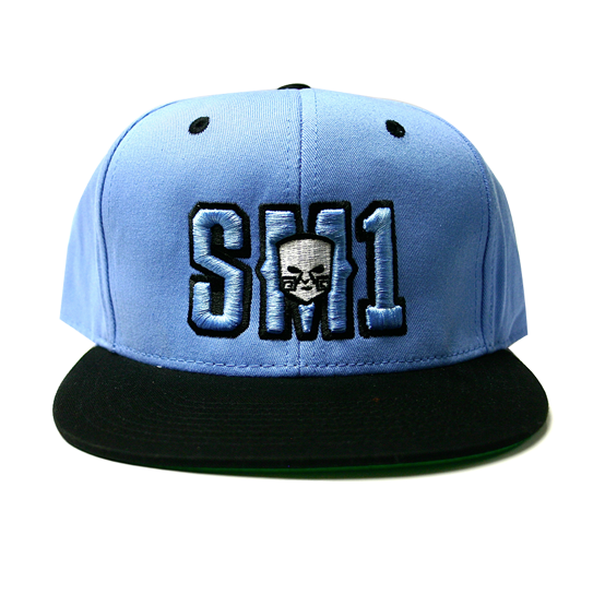 Someone SM1 Snap Baby Blue-Black hat