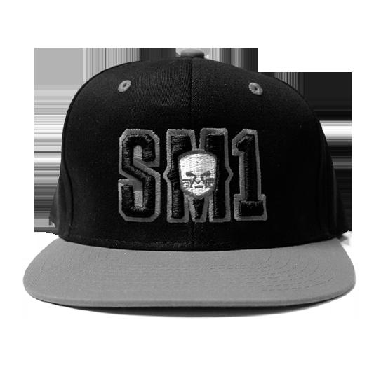 Someone SM1 Snap Black-Grey hat copy