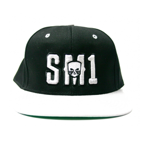 Someone SM1 Snap Black-white hat