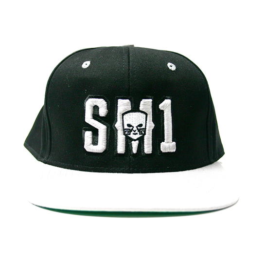 Someone SM1 Snap Black-white hat