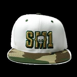 Someone SM1 Snap Camo-white hat