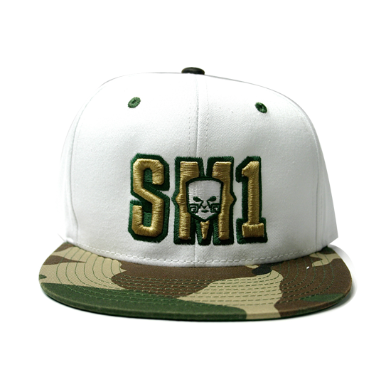 Someone SM1 Snap Camo-white hat