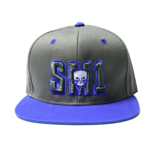 Someone SM1 Snap Dark Grey-Royal hat