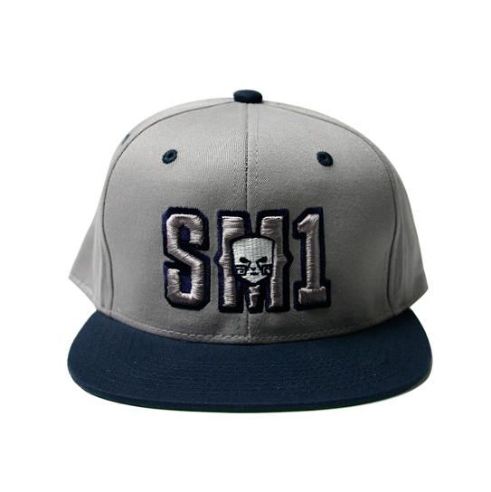 Someone SM1 Snap Navy-Grey hat