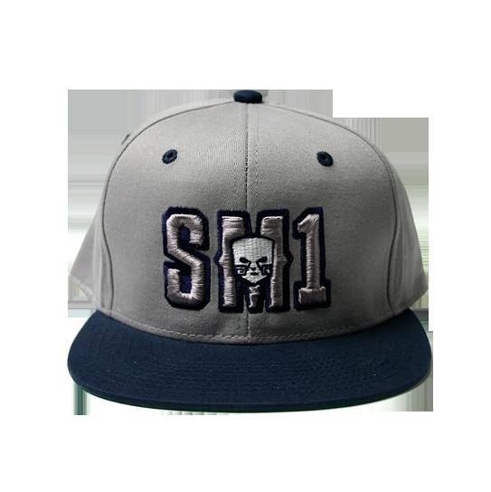 Someone SM1 Snap Navy-Grey hat