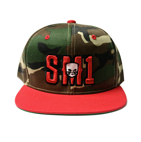 Someone SM1 Snap camo-red hat