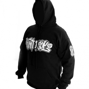 Graffiti Kinto sol Logo Black Hoodie