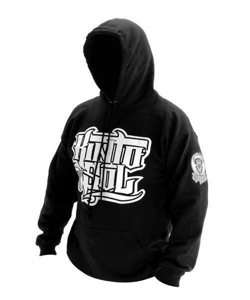 Stack Logo Kinto sol Logo Black Hoodie