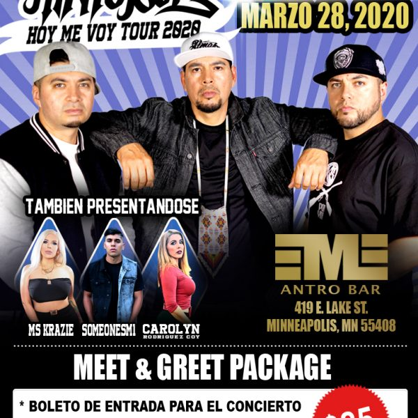Minneapolis, mn Meet & Greet-ticket